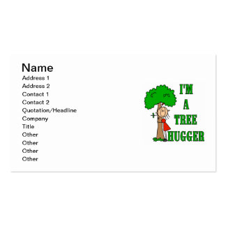 Stick Figure Tree Hugger T-shirts and Gifts Business Cards
