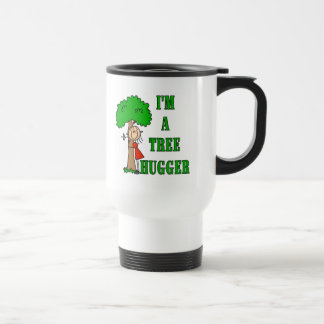 Stick Figure Tree Hugger T-shirts and Gifts Travel Mug