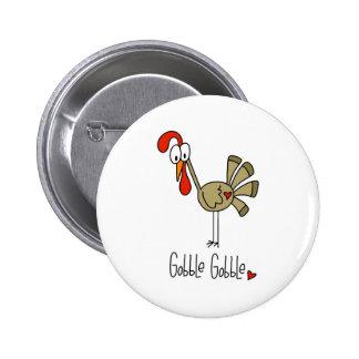 Stick Figure Turkey Button
