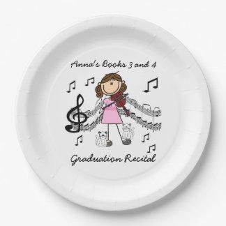 Stick Figure Violin Player Paper Plates