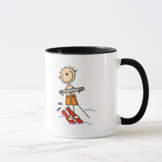 Stick Figure Water Skiing Tshirts and gifts Mug