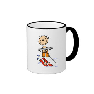 Stick Figure Water Skiing Tshirts and gifts Mugs