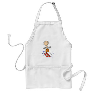 Stick Figure Water Skiing Tshirts and gifts Standard Apron