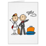 Stick Figure Wedding Honeymoon T-shirts and Gifts Greeting Card