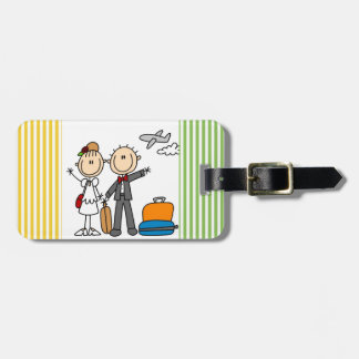 Stick Figure Wedding Honeymoon T-shirts and Gifts Luggage Tags