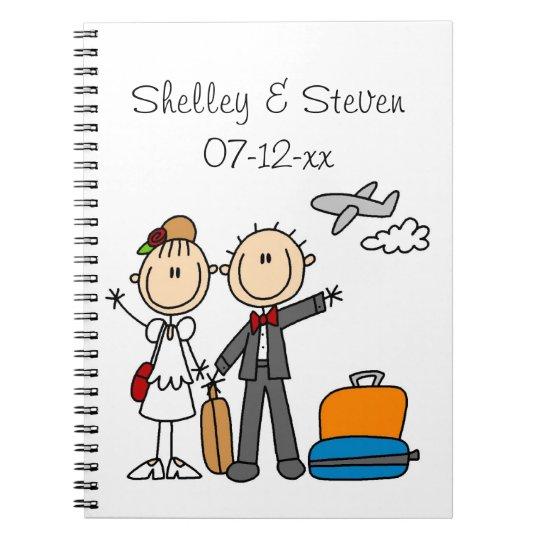 Stick Figure Wedding Honeymoon T-shirts and Gifts Notebook