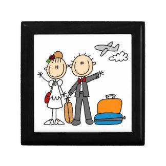 Stick Figure Wedding Honeymoon T-shirts and Gifts Small Square Gift Box