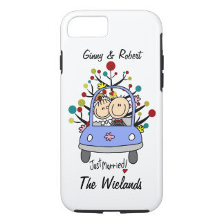 Stick Figure Wedding Just Married iPhone 7 iPhone 7 Case