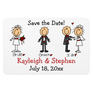 Stick Figure Wedding Premium Flexi Magnet