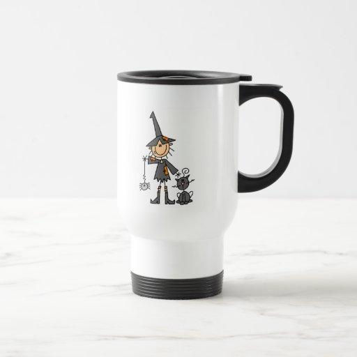 Stick Figure Witch Mug