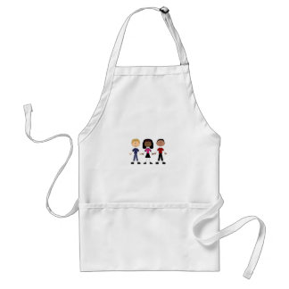 Stick Figure Young People Standard Apron