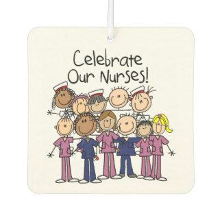 Stick Figures Celebrate Our Nurses Air Freshner