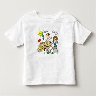 Stick Figures Family Beach Fun Toddler T-Shirt