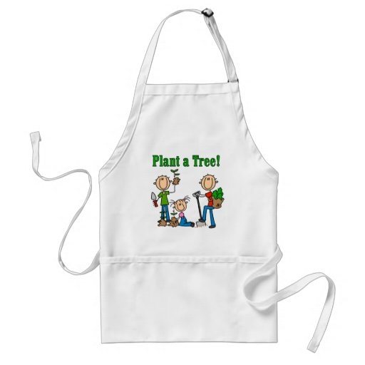 Stick  Figures Plant a Tree T-shirts and Gifts Apron