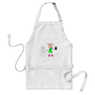 stick figures standard apron