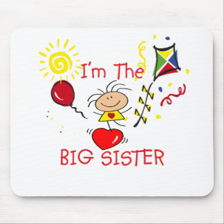 Stick Fiigure Big Sister Girl Mouse Mats