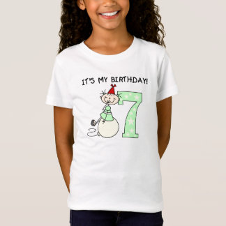 Stick Girl 7th Birthday T-Shirt