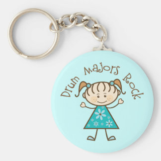 Stick Girl Drum Majors Rock Gift Key Chains