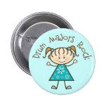 Stick Girl Drum Majors Rock Gift Pin
