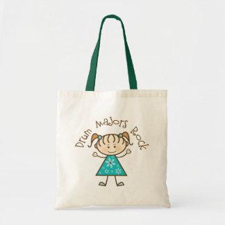 Stick Girl Drum Majors Rock Gift Budget Tote Bag