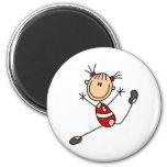 Stick Girl Gymnast Magnet