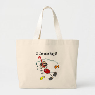 Stick Girl I Snorkel Tote Bags