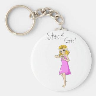 Stick Girl Keychain