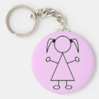 Stick Girl Keychain - Pink