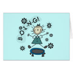 Stick Girl on Trampoline T-shirts and Gifts Card