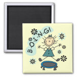 Stick Girl on Trampoline T-shirts and Gifts Refrigerator Magnets