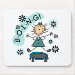 Stick Girl on Trampoline T-shirts and Gifts Mouse Pad