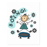 Stick Girl on Trampoline T-shirts and Gifts Post Card