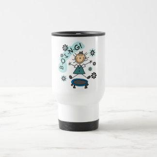 Stick Girl on Trampoline T-shirts and Gifts Travel Mug