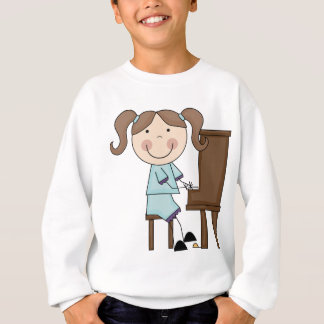 Stick Girl Playing Piano Sweatshirt