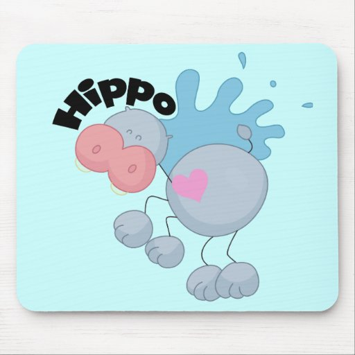 Stick Hippo Tshirts and Gifts Mousepad