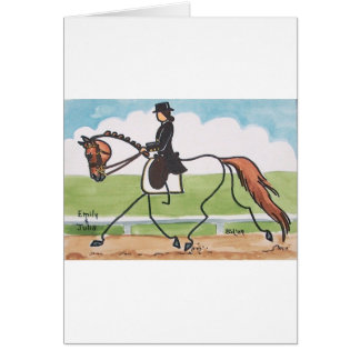 STICK HORSE Chestnut Dressage Trot Greeting Card