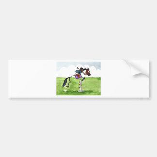 STICK HORSE Pony Showjumping Bumper Sticker
