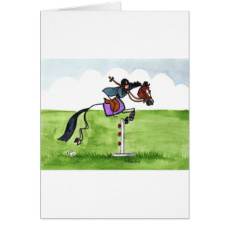 STICK HORSE Pony Showjumping Card