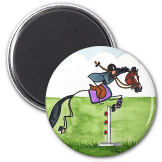 STICK HORSE Pony Showjumping Magnet