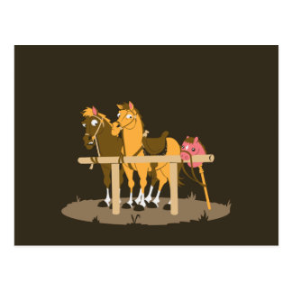 Stick Horse - Wanna Be Horse Postcard