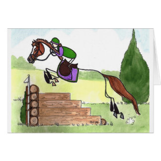 STICK HORSE XC Eventer Chestnut Card