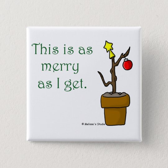 Stick in a Pot Christmas 15 Cm Square Badge