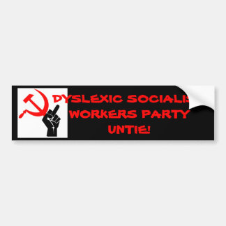 STICK IT TO SOCIALISTS! BUMPER STICKER