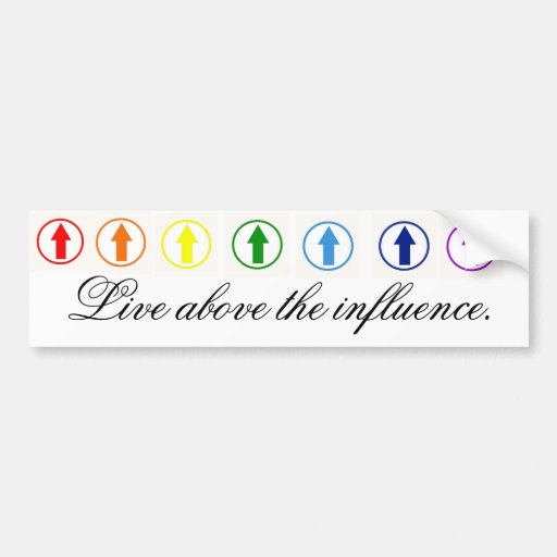 Stick it to the influence - Rainbow. Bumper Stickers