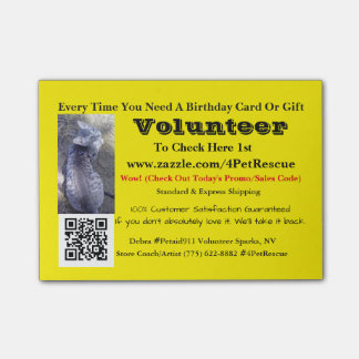 Stick It Volunteers Wanted #4PetRescue Post-it Notes
