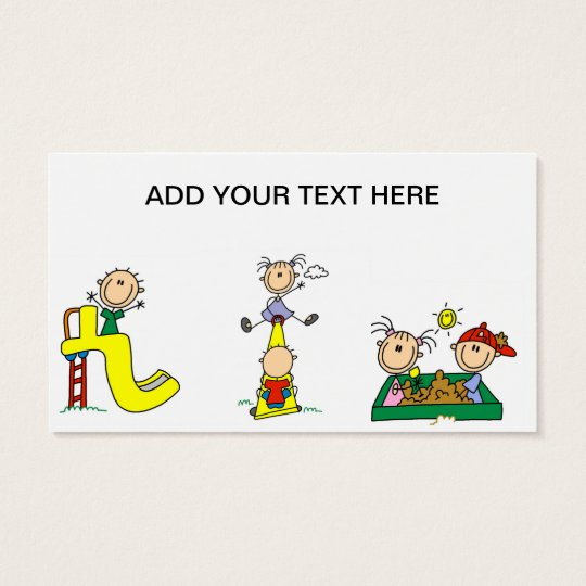 Stick Kids at Play Business Cards
