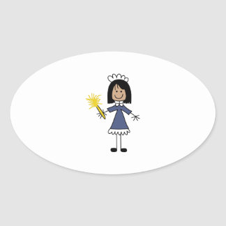 STICK MAID OVAL STICKER
