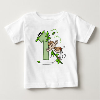 Stick Monkey Swing 1st Birthday Baby T-Shirt