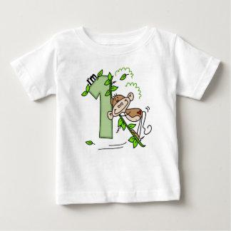 Stick Monkey Swing 1st Birthday T-shirts