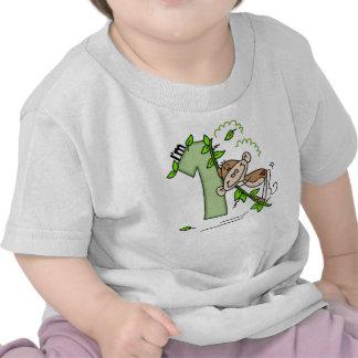 Stick Monkey Swing 1st Birthday Tshirts